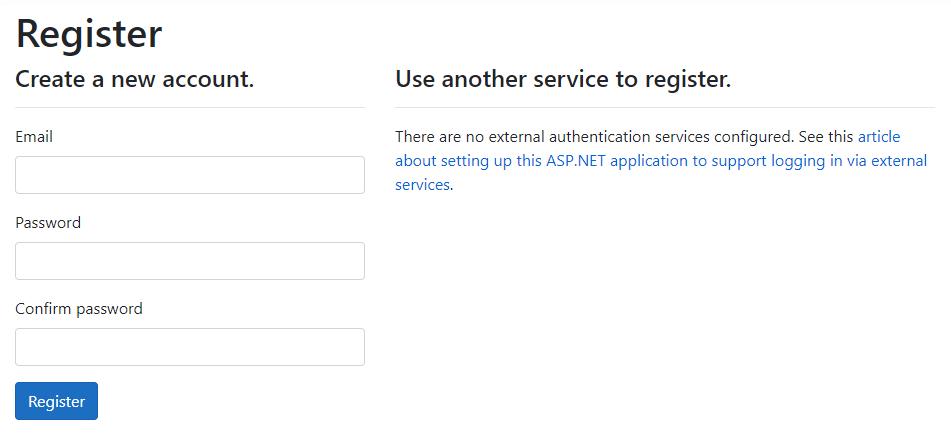 ASP.NET Core Identity - User Registration Page