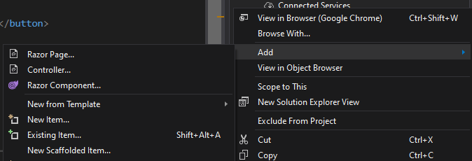 Add New Blazor Component in Visual Studio 2019