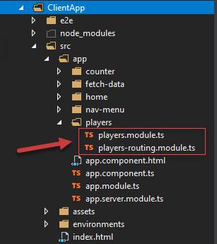 Angular Module Generated using Angular CLI