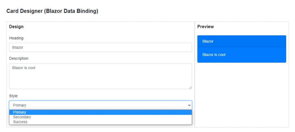 Blazor Data Binding with Select
