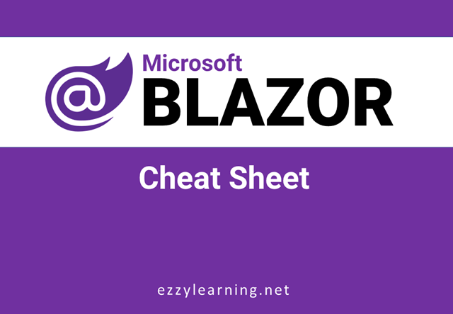 Blazor Cheat Sheet