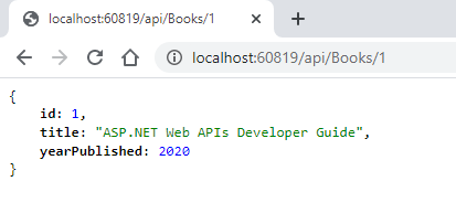Get Single Entity using ASP.NET Core Web API