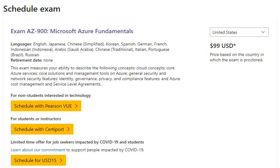How to Schedule Azure Fundamentals (AZ-900) Exam