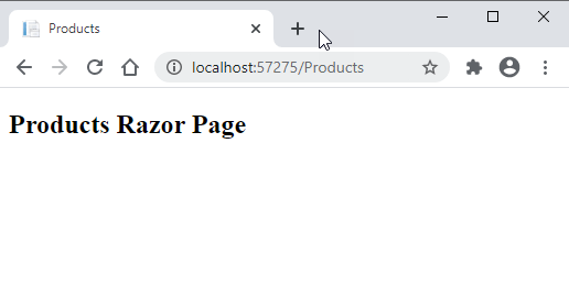 ASP.NET Razor Page in Browser