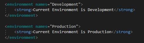 ASP.NET Core Environment Tag Helper